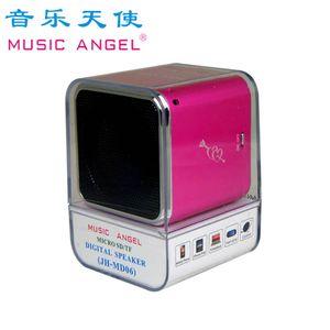 New Original Music Angel MD06 Mini Speaker Stereo Speakesrs Support TF Card Portable Digital MP3 Player JH-MD06D