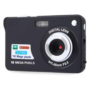 Câmera digital de 2.7 polegadas TFT LCD de 18.0 mega pixels 8X zoom digital Anti-shake Video Camcorder câmera fotográfica