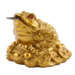 Feng Shui Money LUCKY Fortune Wealth Chinese Frog Toad Coin Home Office Decoration Adornos de mesa Good Lucky Gifts