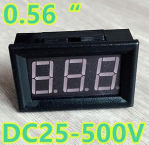 0.56 بوصة DC25-500V الرقمية الأحمر LED العرض الفولتميتر الرئيسية استخدام السيارات السيارات الجهد مع 3 أسلاك
