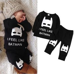 Yeni Bebek Giyim Erkek Kız Mektup Setleri Üst T-shirt Legging Pantolon Çocuklar Yürüyor bebek İlkbahar Sonbahar Kıyafetler Hoodie Eşofman Giysi hediye