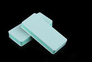 J3 D065 Nail Art Tampon Sünger Nail Art Dosyaları Lehçe Aracı Tampon WhiteGreen Emery Çift Taraflı Güzellik Bayanlar Için Toptan