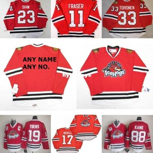 Custom 2017 Mens 11 Colin Fraser AHL Rockford IceHogs Mujeres Niños 17 Bryan Bickell 100% Bordado Custom Hockey sobre hielo Jerseys Goalit Cut Hot