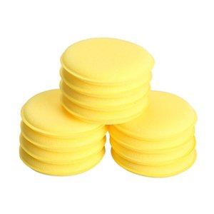 12 pcs Esponja Compactada Mini Amarelo Car Auto Lavar Esponja De Limpeza Esponja De Cera Esponjas de Espuma Aplicador Almofadas Carro-styling Venda Quente