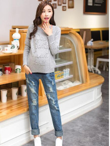 Was thin 2017 new fall and winter maternity jeans trousers stretch Slim Korean fashion prop belly pregnant women pencil pants