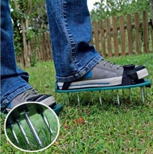 Gardening Grass Lawn Plastic Aerating Shoes Greensward Spikes Loosening Tools free shipping MYY