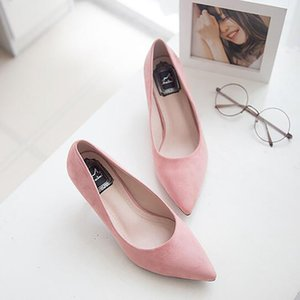 New Pointed Toe Suede High Heels Shoes Fashion Sexy Office Shoes Women Pumps wedding shoes Nightclub Party Pumps
