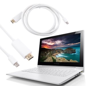 Freeshipping New Mini DisplayPort DP to H-DM-I Adapter AV Converter Cable 1.8M or 5M for Apple Mac Macbook White Cable