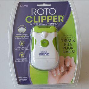 Roto Clipper Elektrikli Tırnak Giyotin Tırnak Makası Manikür Araçları Profesyonel Yeşil Güvenli Hızlı ve Kolay Çift Taraf Tırnak Sanat Güzellik Makinesi