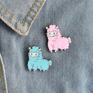 Animal bonito de Kawaii Alpaca Broche Pin Brooche shirt Denim Jacket Decorado mulheres da menina presentes jóias bonito