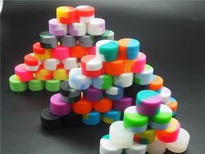 Recipientes de cera de silicona 50pcs / lot Contenedor de frasco de silicona no tóxico reutilizable FDALFGB Cera antiadherente Recipiente de silicona frasco de silicona Cera