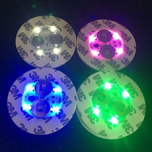 LED-Licht für Glasbong-Unterseite LED-Licht 7 Farben-automatische Justage auf Lager ÜBER 100Pcs geben DHL frei