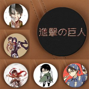 Wholesale- Youpop Attack on Titan Anime Spilla Pin Badge Accessori per abiti Cappello Zaino Decorazione Uomini e donne Boy Girl HZ1400