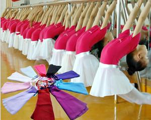 Kızlar Giysi 2015 Yaz Kız Katı Latin Dans Kısa Etek Çocuklar Bale Şifon Etekler Çocuk Şort Dansçı Kostümleri 6 Renk I4023