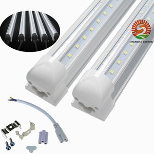 V-Shaped T8 Integrated warm white cold white color 4ft 5ft 6ft 8ft Cooler Door Led Tubes light Double Sides SMD2835 Led shop lights