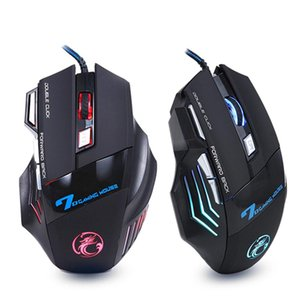 Professional Wired Gaming Mouse 7 Button 5500 DPI LED Optical USB Gamer Computer Mouse Mice Cable Mouse High Quality X7 with retail box