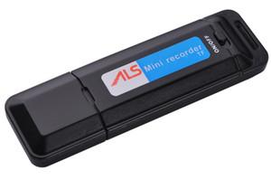 قرص صوتي USB صغير مسجل صوت K1 محرك أقراص فلاش USB يعمل بنظام Dictaphone Pen يدعم حتى 32 جيجابايت أسود أبيض في حزمة البيع بالتجزئة