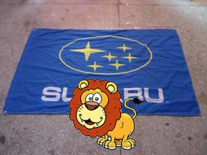 bandera de carreras de subaru, banner de logotipo de marca de coche, tamaño 90X150CM, 100% polyster, 100% poliéster 90 * 150 cm, impresión digital