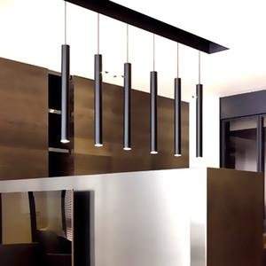 LukLoy colgante enciende la lámpara Isla de cocina comedor Sala de decoración de la tienda, Cilindro de tuberías Luces pendientes Luz de cocina