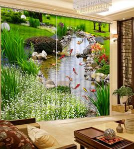 Klassische Home Decor Garten Leber 3d Vorhänge Mode Dekor Hauptdekoration für Schlafzimmer