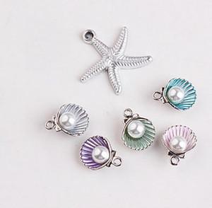 stelle marine di Shell ciondolo in argento di fascino della perla, il fascino bracciale collana, risultati dei monili