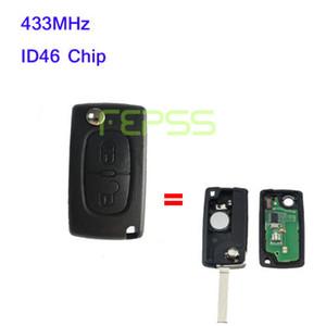 Nuevo botón plegable Flip Remote Key 2 para Peugeot 307 433MHZ ID46 Chip 0536 modelos hasta 20110416