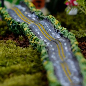 4pcs Highway Road Home Decor Accessories Fairy Garden Miniatures Resin Craft Terrarium Figurines Bonsai Tools Gnomes Micro Landscape Statues
