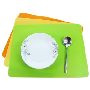 Feuille de tapis de cuisson en silicone épais Coussin d'isolation thermique napperon de table à manger plateau de table