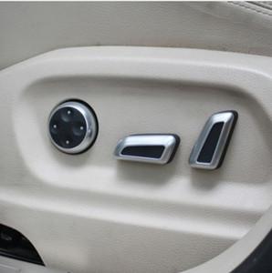 6 Stücke Autositz Anpassung Taste Schalter Chrome Trim für Volkswagen VW Jetta MK5 Passat B7 CC GTI Tiguan Audi A4 A5 A6 A7 Q5 Q3