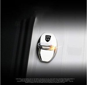 Capa de Proteção de Decoração da fechadura da porta de Aço Inoxidável caso capa Fit para Cayman Cayman Porsche Boxer 911 estilo do carro