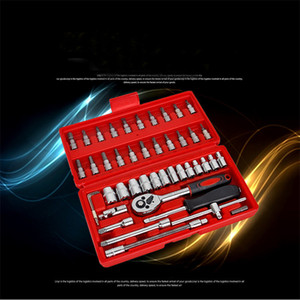 46pcs Socket Set Car Repair Tool Ratchet Torque Steel Wrench Combination