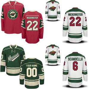Mens Minnesota Wild Custom Jersey 6 Marco Scandella 20 Ryan Suter 40 Devan Dubnyk 46 Jared Spurgeon 100% Stitched Hockey Jerseys Mix Order