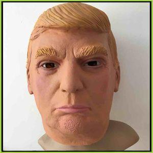 Президент США г-н Дональд Трамп латексная маска анфас Маска костюм партии Маска Хэллоуин Маска накладные расходы Маска