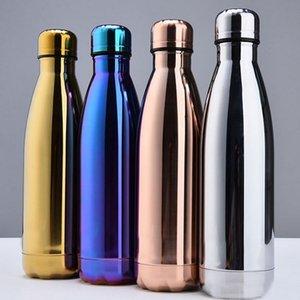 Nuova tazza di isolamento dell'acqua Mug 500ML Vacuum Bottle Sport 304 in acciaio inox Cola Bowling forma tazze di viaggio 4 colori DHL libero WX-C19