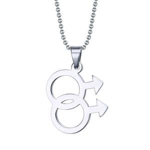 Moda Maschio Logo Gay Pride Pendant Jewelry 316L Collane in acciaio inox collane gay gioielli gay