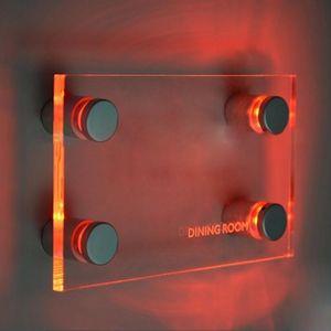 아크릴 판 무료 DHL 배송을 위해 설정 아크릴 화이트 레드 블루 그린 라이트 4 개 /를위한 LED 스탠드 오프 로그인 홀더