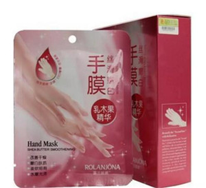 2017 New Rolanjona Milk Bamboo Vinegar hand Mask Peeling Exfoliating Dead Skin Remove Professional hand sox Mask hand Care A08