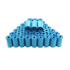 Blue 40 Rolls Bolsas para cachorros de mascotas Dog Cat Waste Recoger Bolsa limpia un rollo de 15 bolsas