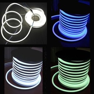 AC110 AC220V SMD2835 LED 네온 플렉스 스트립 빛 6W / M LED 네온 빛 120LEDS LED 로프 조명 네온 맥주 신호 50m / 롤 200m / lot