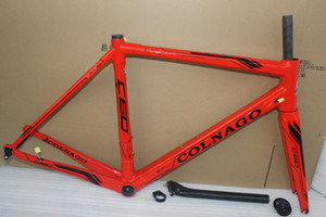 Envío gratis rojo Colnago c60 marco carbono bicicleta frameset bicicleta de carretera marco bicicleta azul brillante framset de alta calidad