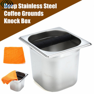 Deep Coffee Residue Knock Box Espresso Acciaio inossidabile Motivi Scorie Bucket Holder Coffee Make Tool Pattumiera Recycle Household