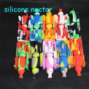 Atacado Silicone Nectar 10mm titânio masculino pregos dabber ferramentas de Silicone big bongs nectar coletor de silicone SiliNectar frete grátis DHL