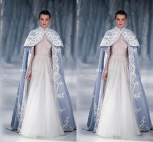 2017 fashion Wedding Jacket Wrap For Bride High Neck Wedding Cape Embroidery Satin Cloak Jacket Bridal Bolero Shrug Dubai Abaya free shippin