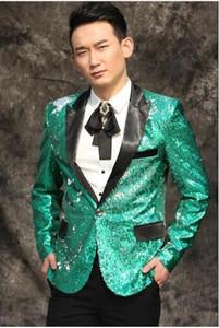 Gli uomini originali di notizie adattano i costumi di scena di masculino homme terno dei progettisti per i vestiti del rivestimento del vestito da ballo degli uomini del sequin della giacca sportiva del blazer