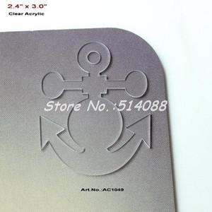 """Vente en gros (20pcs / lot) 76mm collier de collier d'ancrage acrylique transparent blanc découpé au laser Save the Date Charms 3 """"-AC1049"""