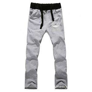 Wholesale- Anime My Neighbor Totoro LOVERS pantaloni slim in puro cotone pantaloni casual da uomo pantaloni sportivi nuova moda