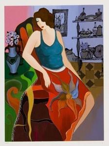 Gerahmte Itzchak Tarkay Siliaure handgemalte abstrakte Porträt Wand Kunst Ölgemälde auf Canvas.Multi Größen versandkostenfrei wxh05-It9