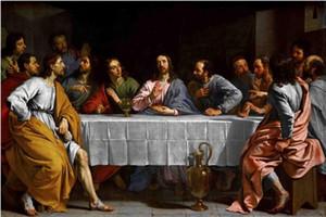 Incorniciato The Last Supper Leonardo Da Vinci, Dipinto a mano Grande classico Ritratti famosi Pittura a olio di arte su tela Multi formati Opzioni Fm001