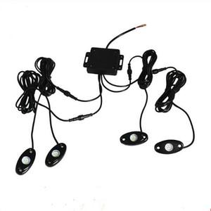 10 компл. 9 Вт высокой мощности 9-30 в мини Bluetooth 4 стручки CREE LED RGB Rock Light Kit для под автомобиль грузовик внедорожник DIY