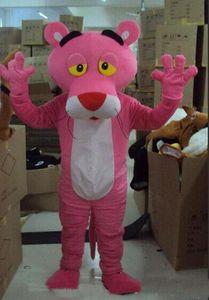 2018 vente directe d'usine mascotte panthère rose costume mascotte panthère rose livraison gratuite